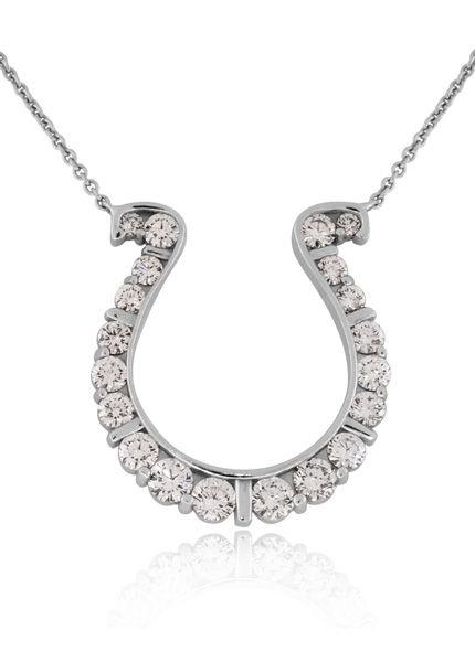 a81fb34d5f750 GO BLUE Large Diamond Horseshoe Necklace | Reis-Nichols Jewelers ...