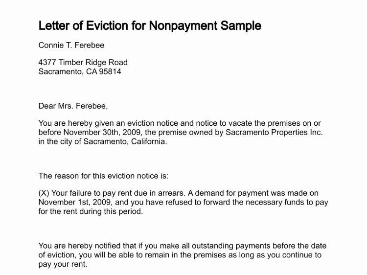 Eviction letter template free elegant free printable