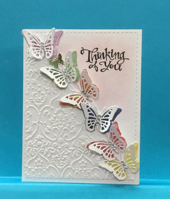 Cas422 Beauty In Flight Butterfly Cards Handmade Embossed Cards Butterfly Birthday Cards