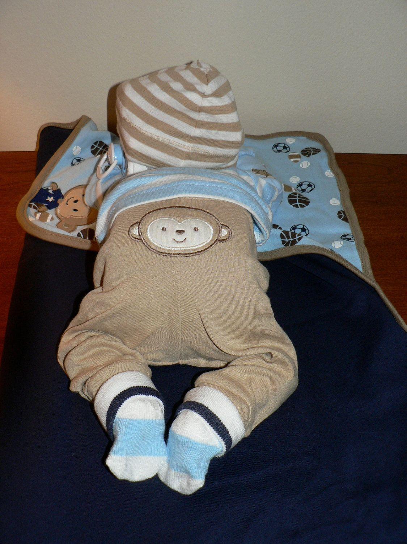 Boy Sleeping Baby Diaper Cake By Erinjhazen On Etsy Baby