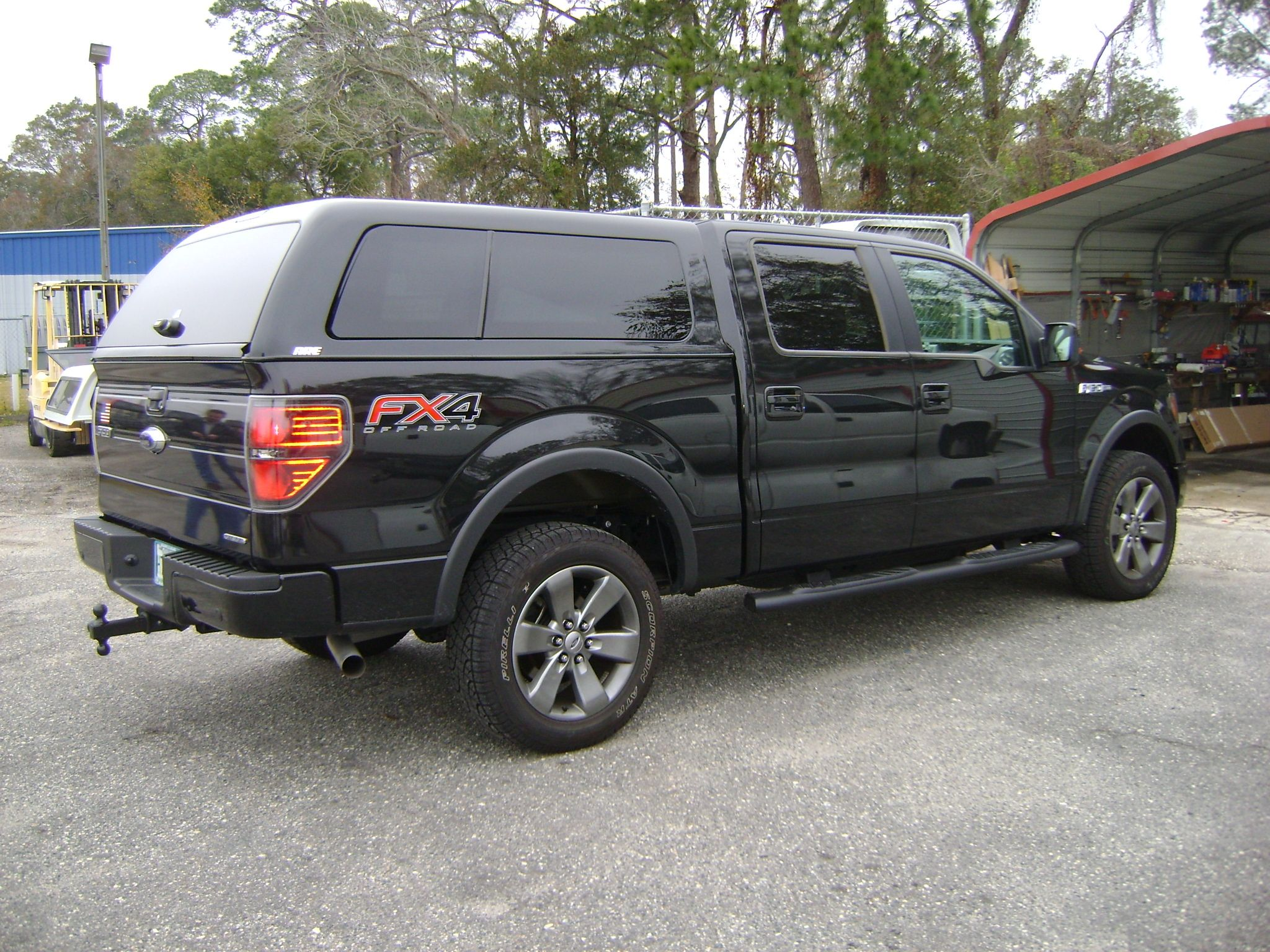 Topper installed on Ford F150. trucktopper
