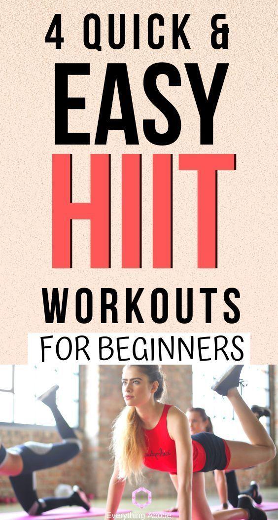 4 Intervalltraining mit hoher Intensität für Anfänger HIIT #Fitness #Fitnessstudio #Passen #Trainier...