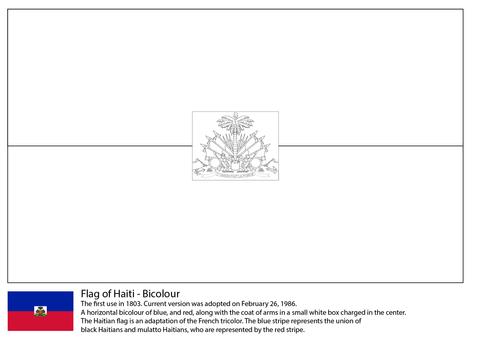 Flag Of Haiti Coloring Page Free Printable Coloring Pages Flag Coloring Pages Haiti Flag Haitian Flag