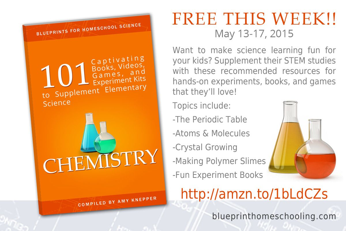 Huge list of resources for homeschool chemistry for elementary kids