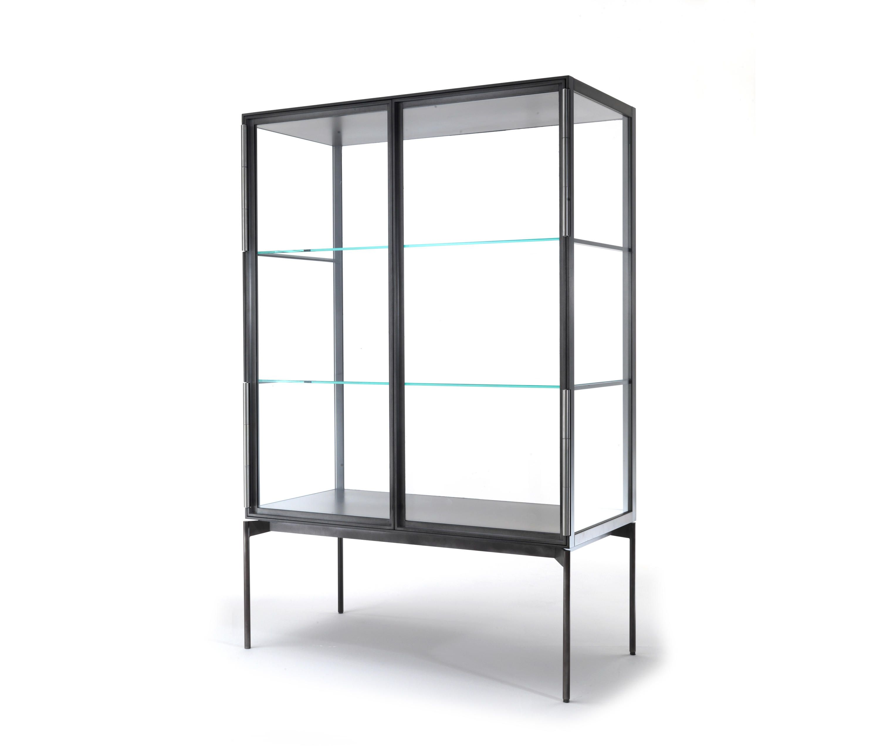 48 Glass Display Case W Led Side Lights Sliding Door Frameless Black Glass Display Case Glass Shelves Display Case