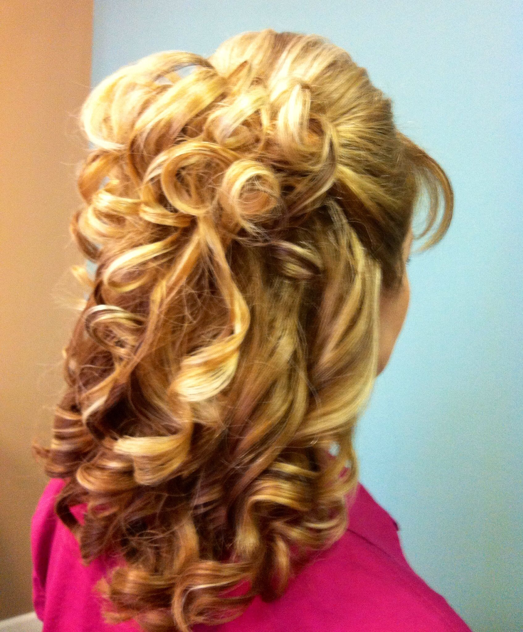 Half up half down hairstyle Hair by Casey Pinterest