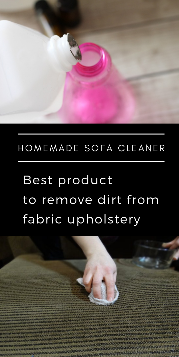 Homemade Sofa Cleaner Best Product To Remove Dirt From Fabric Upholstery Homemade Sofa Homemade Upholstery Cleaner