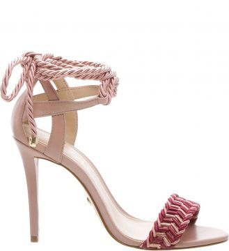 ca2b6683be AREZZO Sandalia Lace-up Isabelli Feminino Rose Blush - Descricao O sapato  pode agregar um
