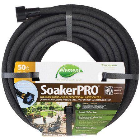 Element Soakerpro 50 Ft Water Hose Black Soaker Hose Garden