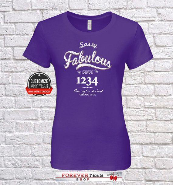 Sassy Fabulous 41st Birthday Women Gifts For 1977 Tshirt 41