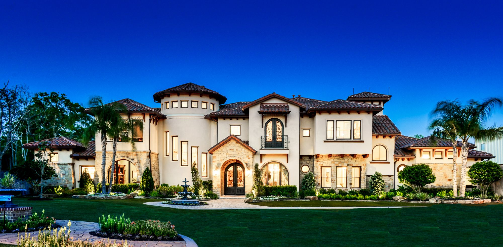 At about 6,000 sq ft, this Italian Mediterranean style custom home ...