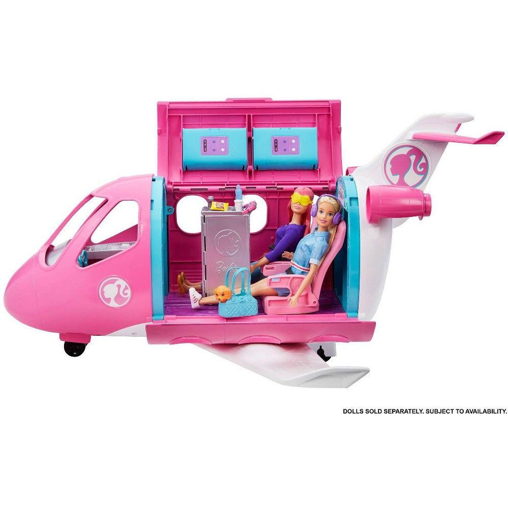Barbie Playset Dreamplane 15 Accessories Airplane Kid Girl Fun Toy