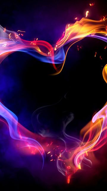 Download Fire Heart Wallpaper For Nokia 5800 XpressMusic
