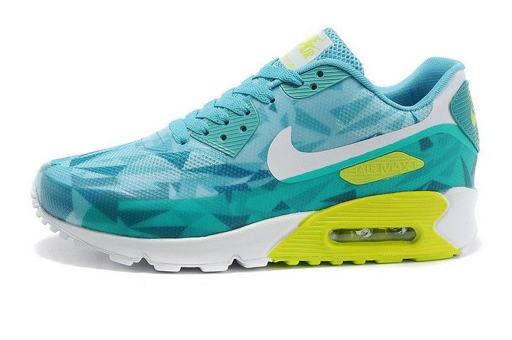 great fit fea98 2edab Mujer/Hombre Nike Air Max 90 ICE Hyperfuse Premium 2014 25 Anniversary  Colorful Verde Blancas Amarillas