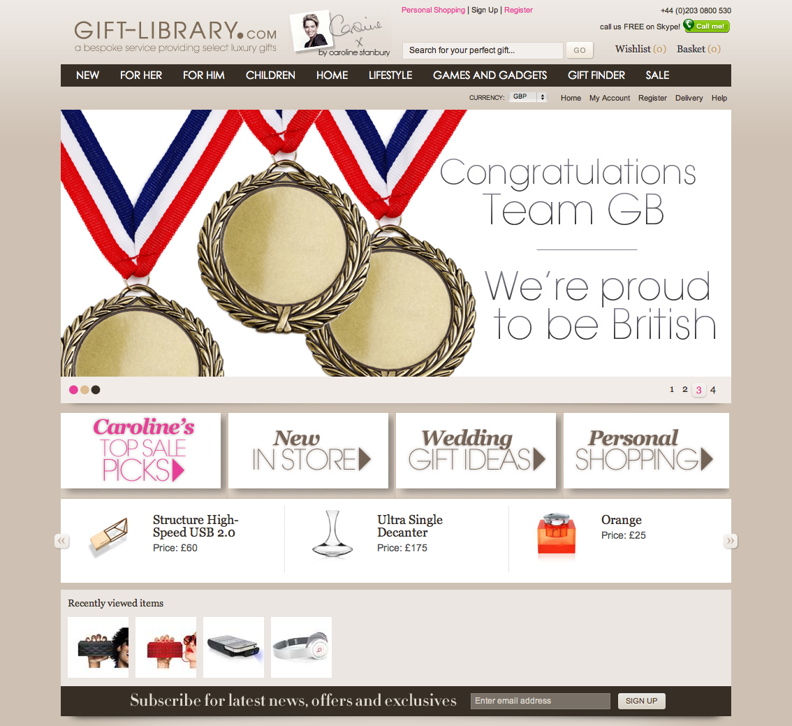Some really cool gifts on this site http://www.gift-library.com ...