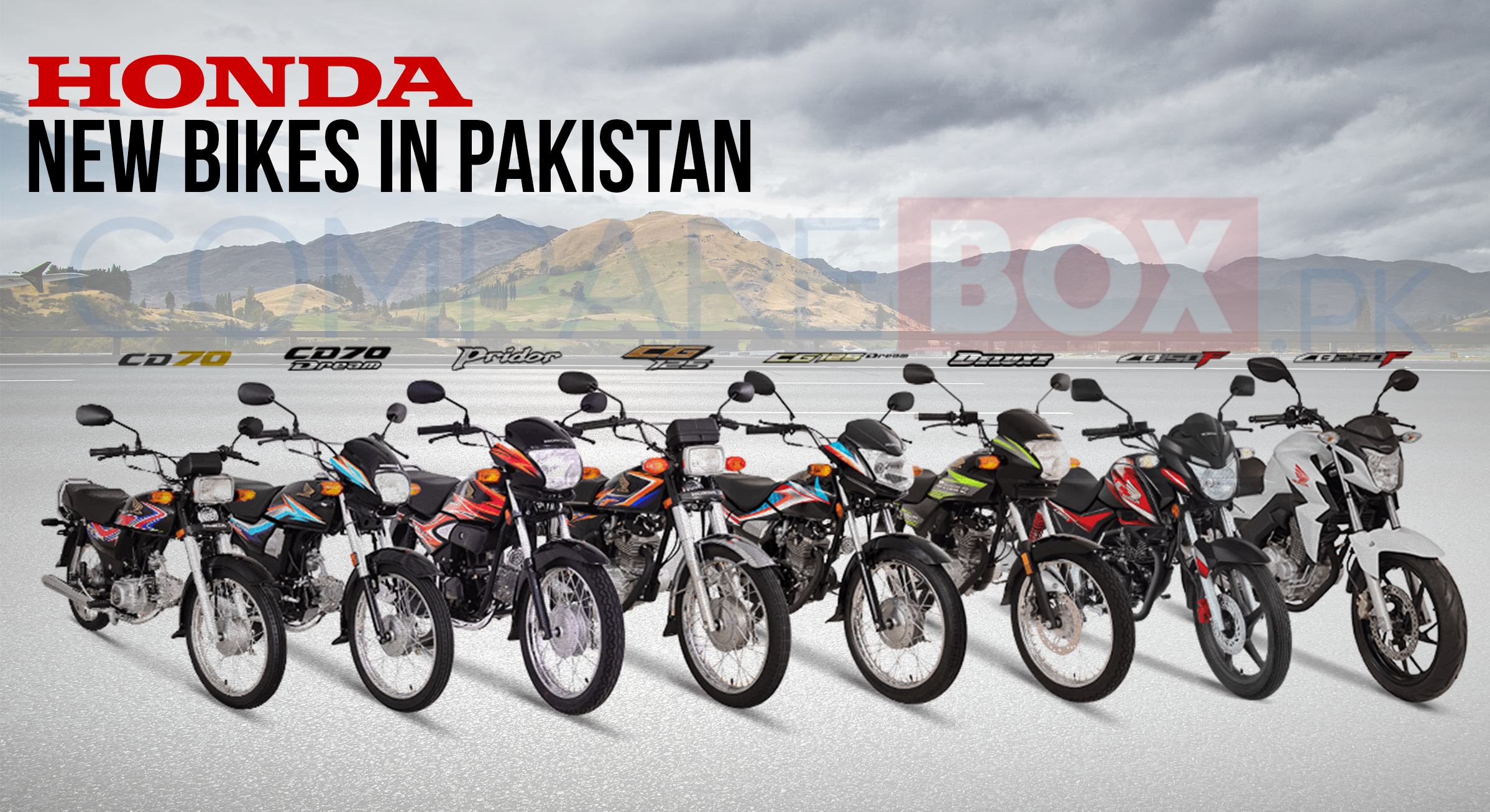Honda New bikes in Pakistan Honda new bike, Honda, Bike