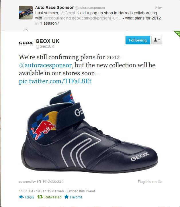 Geox—Red Bull Racing new shoe line