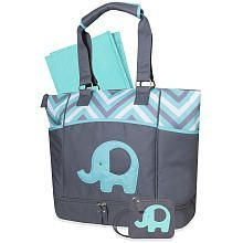 Baby Essential Elephant Diaper Bag Aqua Boy Bags Ny