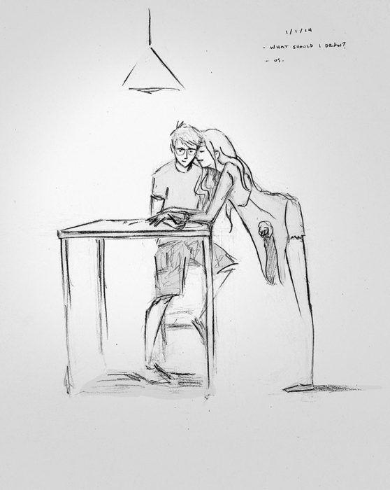 Enamorado De Su Esposa Creo 365 Dibujos De Cada Momento Especial Durante Un Ano Ilustraciones Ilustracion Del Amor Como Dibujar Cosas