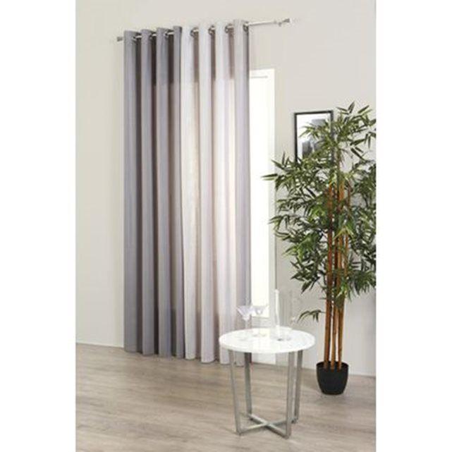 perfect rideau rsille x cm gris atmosphera la redoute mobile with rideaux occultants la redoute. Black Bedroom Furniture Sets. Home Design Ideas