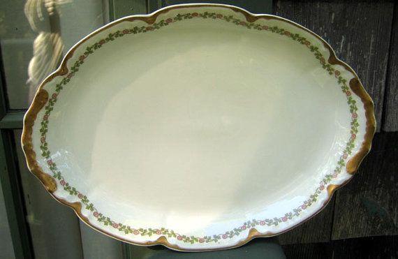 Antique Haviland Limoges Platter Schleiger by 4HollyLaneAntiques, $94.00