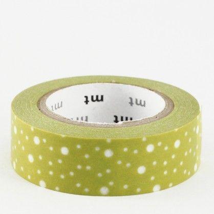 Un making tape vert avec des points blancs irréguliers évoquant un ciel étoilé. Existe aussi en version violette.