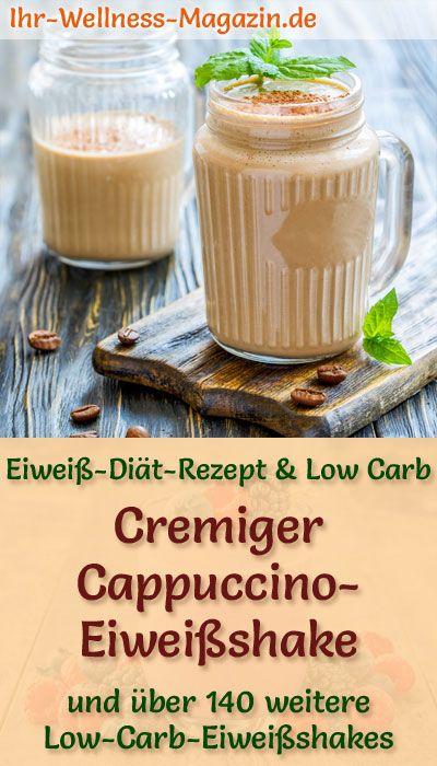 Cappuccino-Eiweißshake - Low-Carb-Eiweiß-Diät-Rezept zum Abnehmen