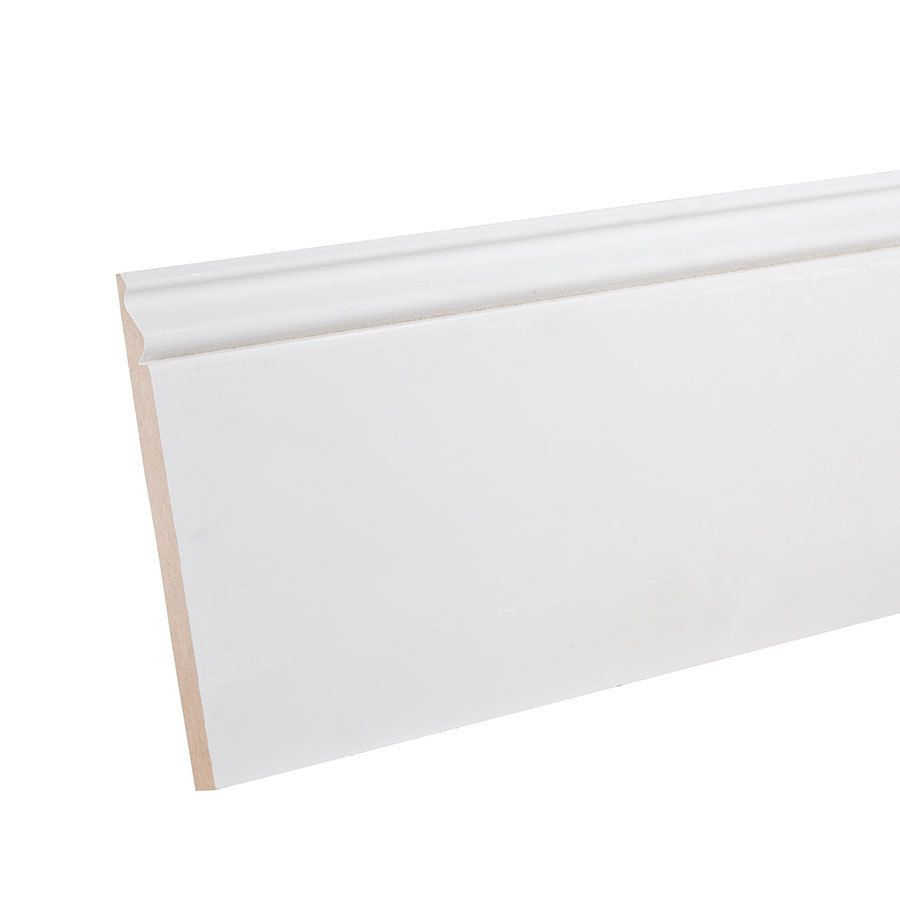 7 1 4 In X 12 Ft Primed Mdf Baseboard Moulding Actual 7 25 In X
