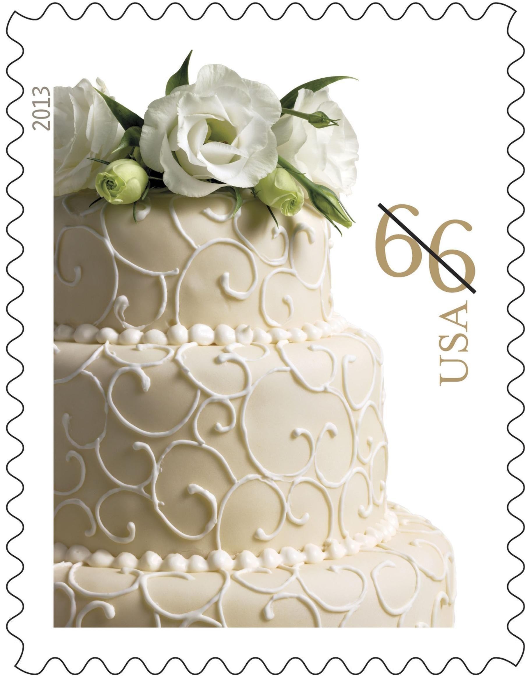 Usps Reissues Wedding Cake Stamp Wedding Stamp Wedding Invitation Postage Wedding Postage