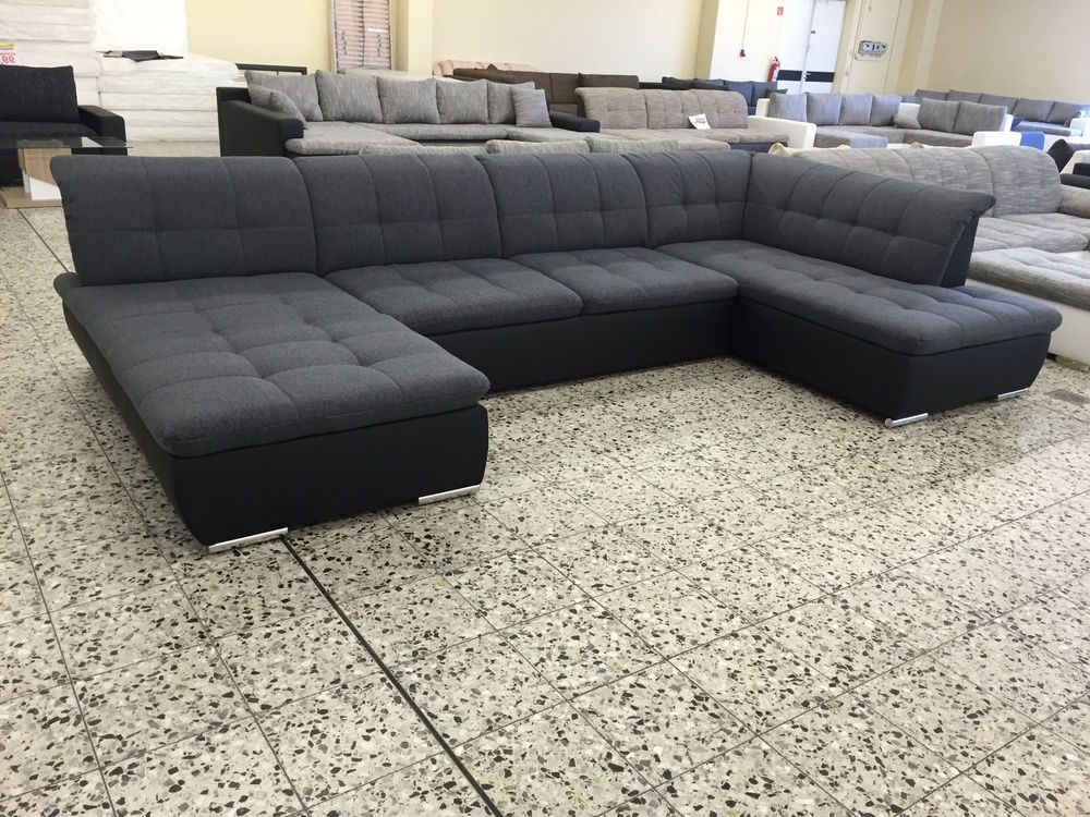 Big sofa couch wohnlandschaft megasofa ottomane re for Couch 0 finanzierung