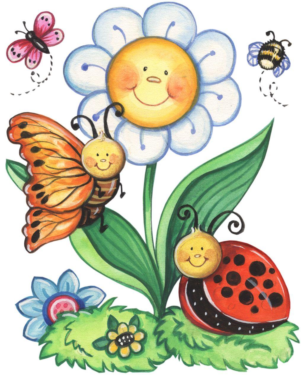 Smiling flower whole imprimibles de colores pinterest for Dibujos infantiles pintados