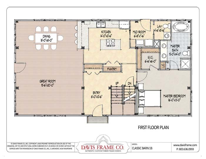 Timber Frame Barn 1b Plan 1 Barn Homes Floor Plans Pole Barn House Plans Barn House Plans