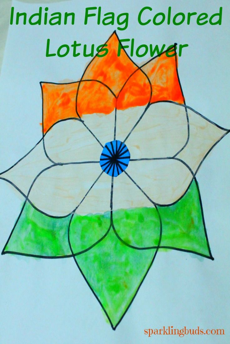 Indian Republic Day Craft Lotus Kolam Is Simple For Kids To Learn