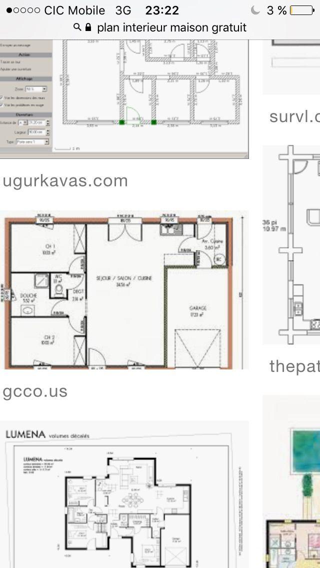 Plan de maison Amandine G 90 Design  Vignette 1 Maisons Pinterest - Plan Gratuit De Maison Plain Pied