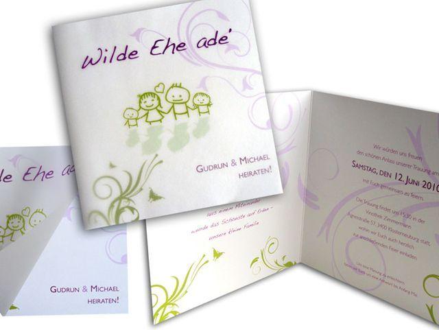 Einladungskarten Hochzeit+ +Happy+Family