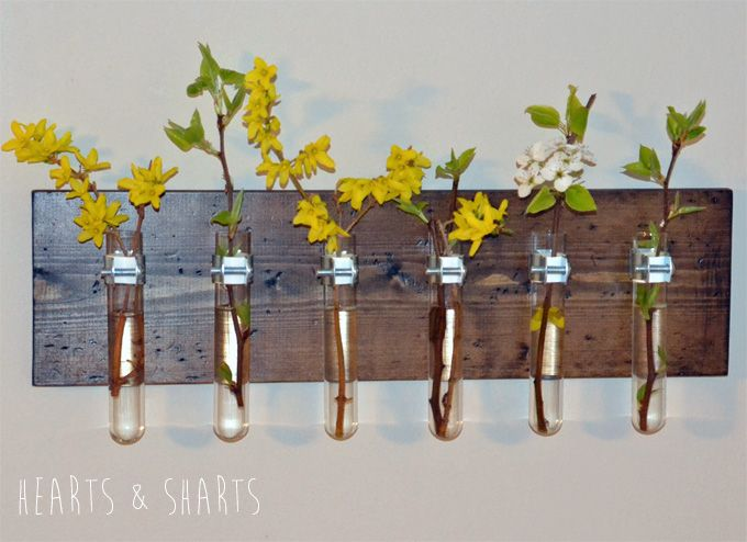 Hanging Test Tube Wall Planter Happy Home Diy Wall Planter Test Tube Crafts Hanging Wall