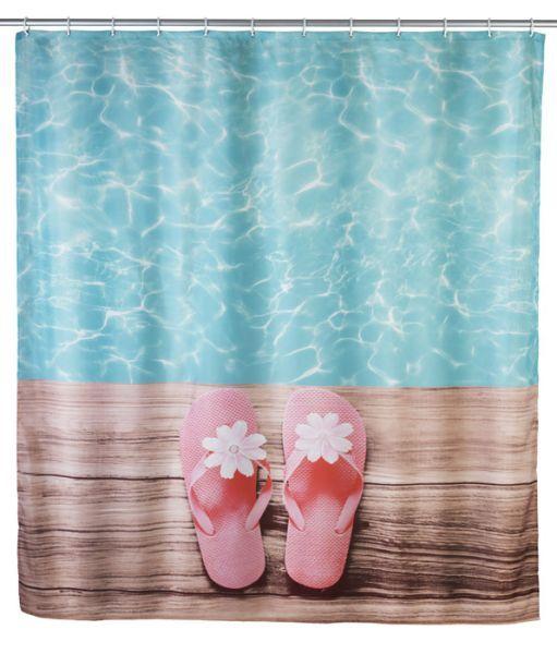 Diese Tropische Duschvorhang Mit Vintage Palmen Ist Ein Grosser
