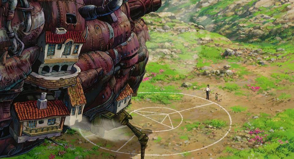 Escenarios Ghibli: Preparando un gran conjuro, en 'El castillo ambulante' (Hayao Miyazaki, 2004)