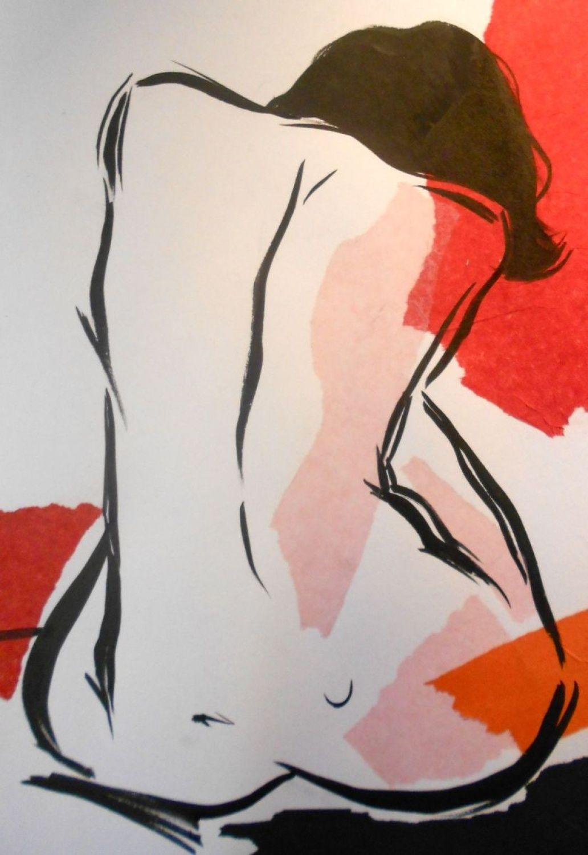 Naked Line 4 (2014) Dessin à l'encre by Sheila Volpe | Artfinder
