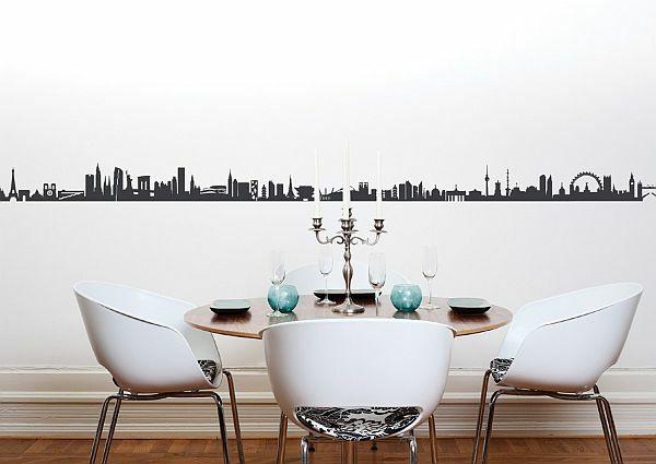 wandgestaltung ideen esszimmer wände gestalten wandtatto | pinterest - Wandgestaltung Esszimmer Ideen