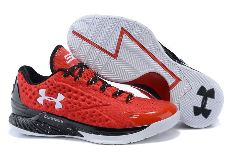 newest a9b34 2007c Under Armour Curry One Low Elite 24 Red White   Stephen curry basketball  shoes   Pinterest   Curry, Armours and Stephen curry