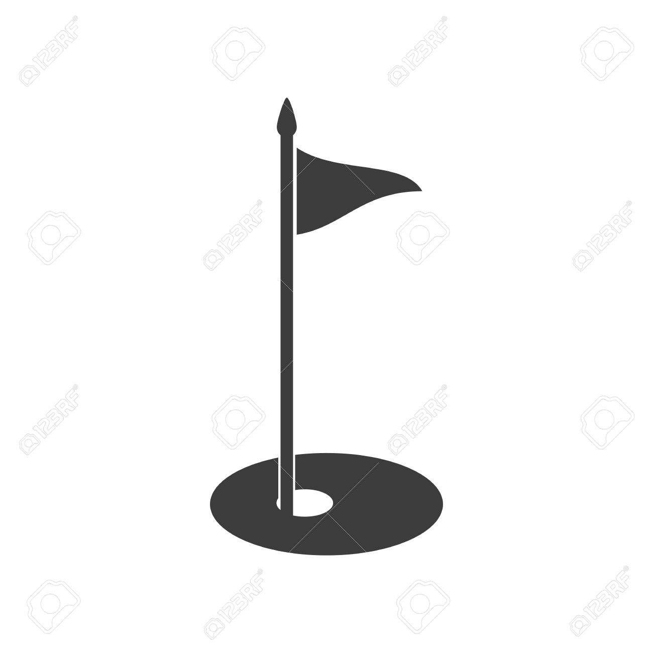 Golf Flag Icon Golf Flag Vector Isolated On White Background Illustration Aff Icon Vector Golf Flag Flag Icon Flag Vector Vector Character Design