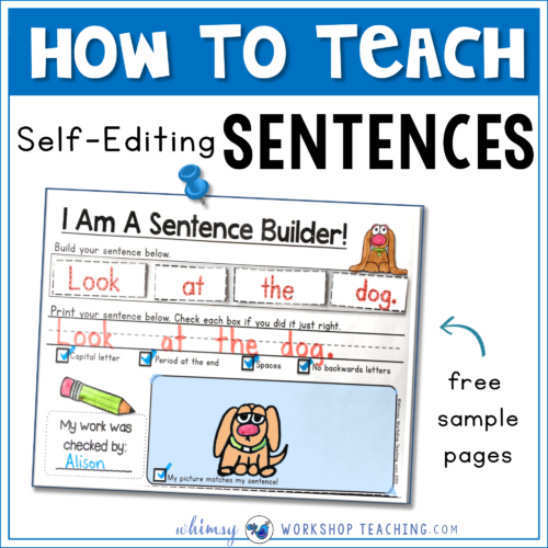 Sentences: Building and Self Editing   Education   Kindergarten