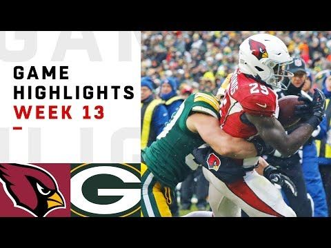 Cardinals Vs Packers Week 13 Highlights Nfl 2018 The Arizona Cardinals Take On The Green Bay Packers During Week 13 Arizona Cardinals Nfl Network Packers