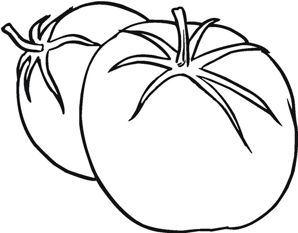 Ripe Tomato Vegetable | vegetable coloring pages | Pinterest ...