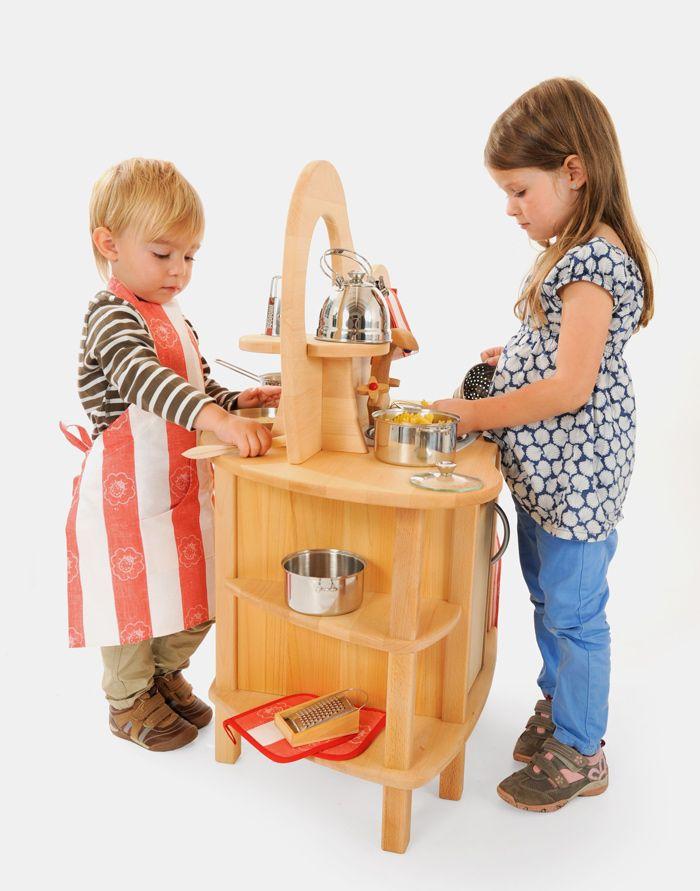 Schön Kinderküche | Spielküche Aus Holz Mit Aufsatz Von Glückskäfer (528830) |  Echtkind