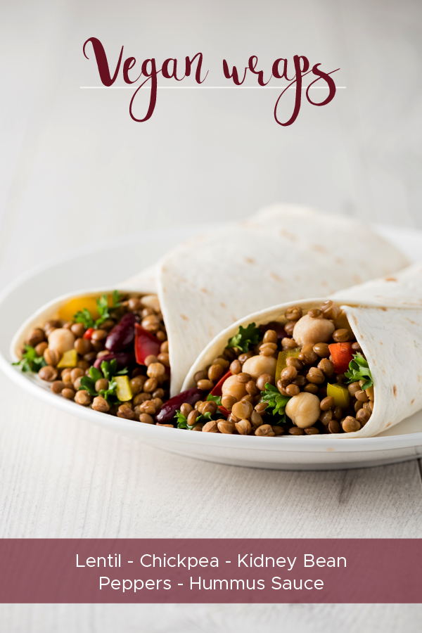 These healthy vegan wraps are just the way to finish your