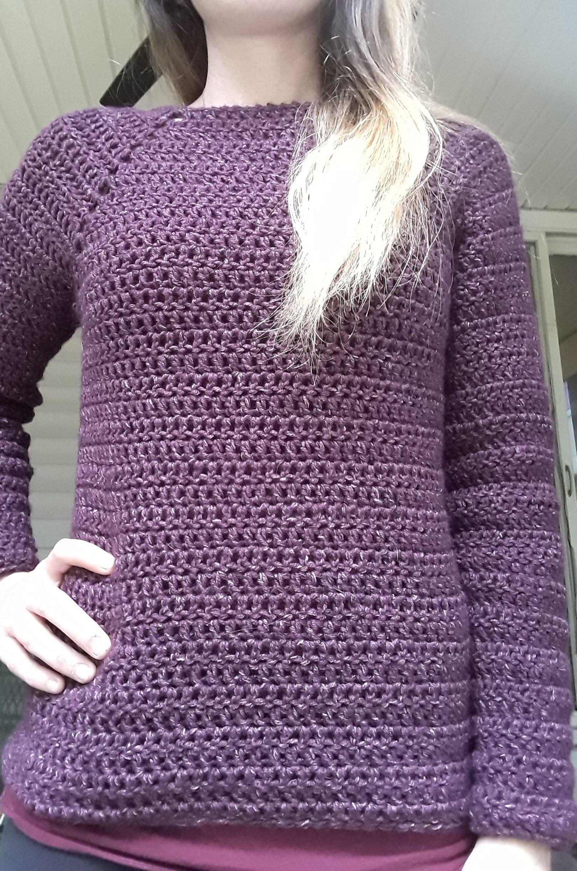 Easy Top Down Sweater Croche Para Iniciantes Tudo Sobre Croche