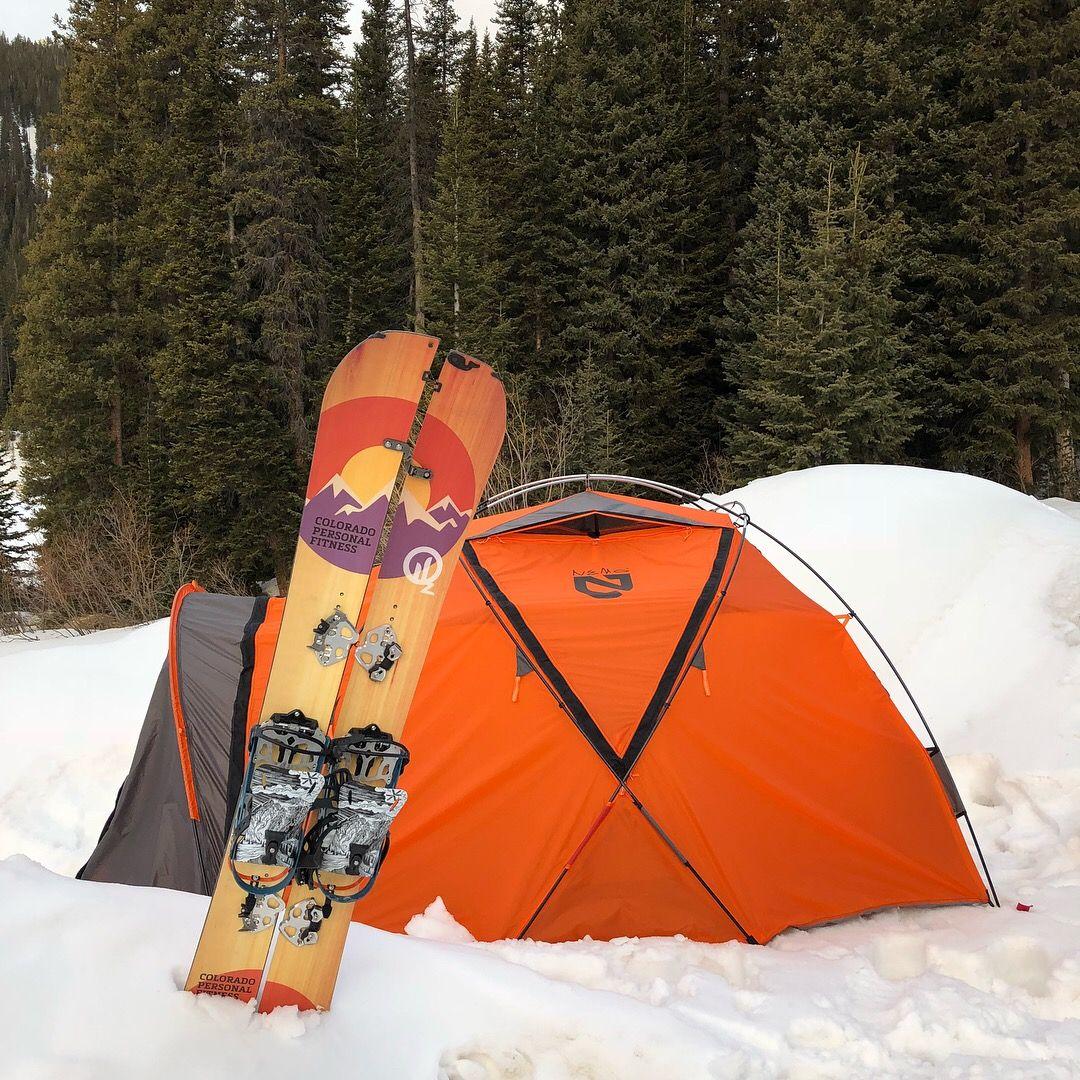 Winter Camping And Splitboarding ️⛺️🏂 Custom Oz Splitboard