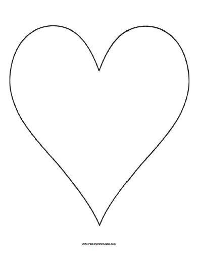 Molde de Corazón para Imprimir Gratis | Hearts | Heart template